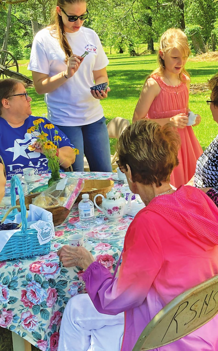 Friends of Ft. Jesup, CAR hold tea party