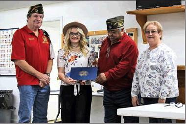 Zwolle-Ebarb VFW Post 5187 presents program awards