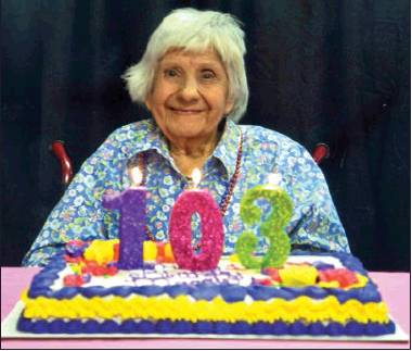 Maggie Manshack celebrates 103rd birthday