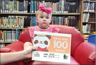 Sabine's young reach reading milestones