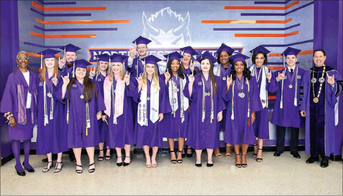 NSU recognizes top grads at commencement