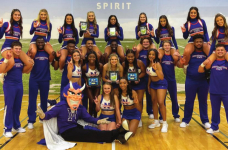 NSU Purple Pizazz Pom Line, cheer squad win first place at competition