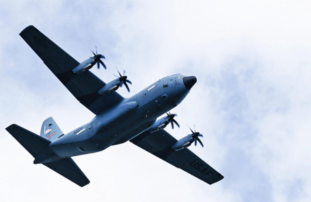 Air Force spotted over Many