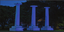 """NSU """"lights it blue"""" to honor first responders, healthcare professionals"""
