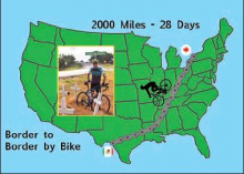 Border-to-border bike event to roll through Many October 25