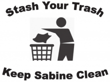 Locals urged to join April's Sabine Trash Bash cleanup