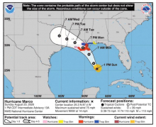 Emergency declared ahead of unprecedented dual hurricane threat