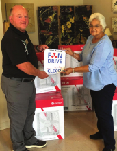 Sabine Council on Aging participates in 20th Annual Cleco Fan Drive to help elderly