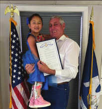 Rep. Schamerhorn recognizes AMC Day; welcomes special visitor
