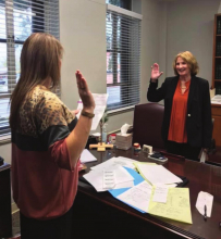 Wooley sworn in as Many Chief of Police