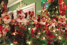 Christmas elves decorate Migliore home