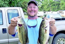 Second place in the October tournament of the Many Bass Club was taken by points leader Derek Mong.