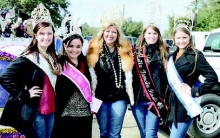 Chelsea, Lauren, Jami, and Anna with Haleigh Willis, the Louisiana Fur Queen Pageant.