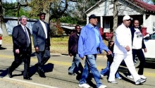 Local elected official and pastors were among those that marched in honor of Dr. Martin Luther